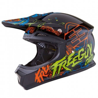 Casque Motocross Freegun XP-4 Overload Yellow Green
