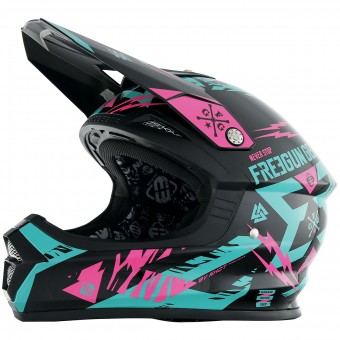 Casque Motocross Freegun XP-4 Trooper Mint Neon Pink