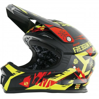 Casque Motocross Freegun XP-4 Trooper Neon Yellow Red