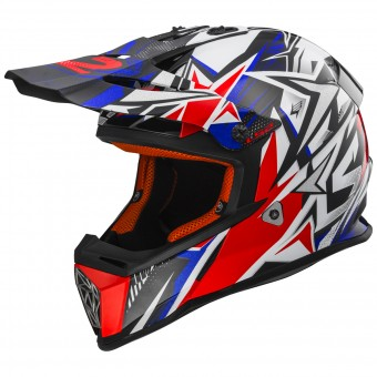 Casque Kids LS2 Fast Mini Strong White Red Blue MX437J