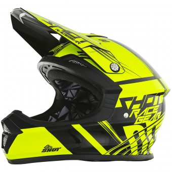 Casque Kids SHOT Furious Claw Neon Yellow Kid