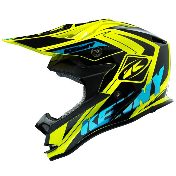 helmet kenny performance yellow fluo cyan kid at the best price. Black Bedroom Furniture Sets. Home Design Ideas