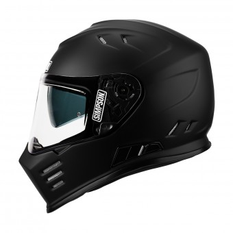 Casque Full Face Simpson Venom Solid Black Matt