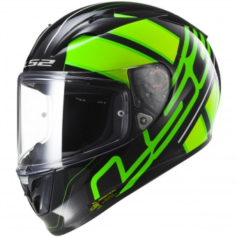 Casque Full Face LS2 Arrow R Evo Ion Black Fluo Green FF323