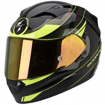 Casque Full Face Scorpion Exo 1200 Air Fulmen Black Neon Fluo