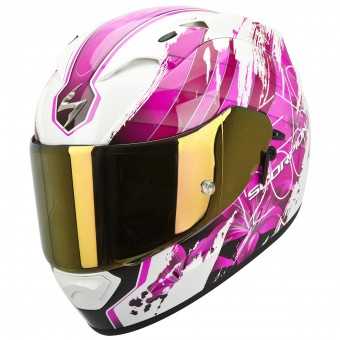 Casque Full Face Scorpion EXO 1200 Air Lilium White Pink