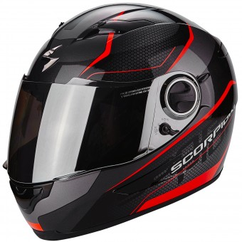 Casque Full Face Scorpion Exo 490 Vsion Black Neon Red