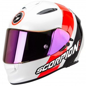Casque Full Face Scorpion Exo 510 Air Hero White Neon Red