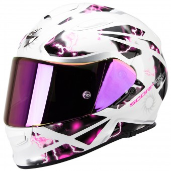 Casque Full Face Scorpion Exo 510 Air Xena Pearl White Pink