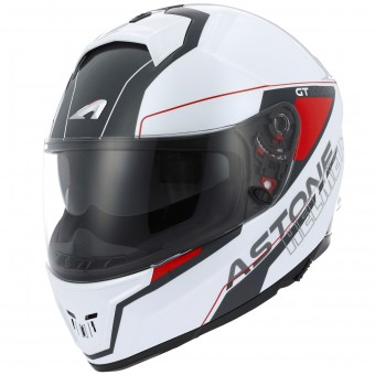 Casque Full Face Astone GT 1000F Gamatron Red White