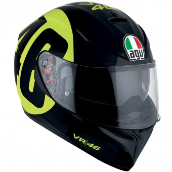 Casque Full Face AGV K3 SV Top Bollo 46 Black Yellow