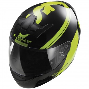 Casque Full Face LS2 Rookie Fluo Black Hi-Vis Yellow FF352