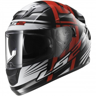 Casque Full Face LS2 Stream Bang Black Red FF320