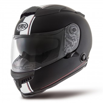 Casque Full Face Premier Touran DS9 Matt Black White