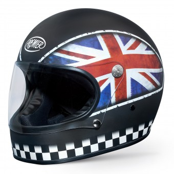 Casque Full Face Premier Trophy Flag Matt Black UKBM