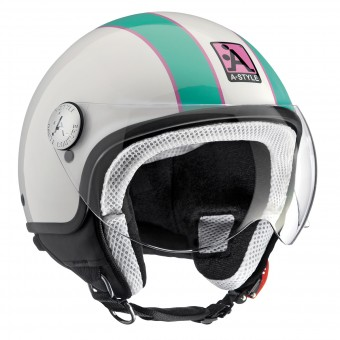 Casque Open Face Astyle A-Style Pink