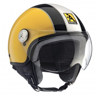 Casque Open Face Astyle A-Style Yellow Black