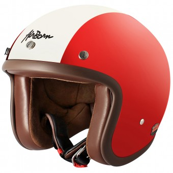 Casque Open Face Airborn Steve AB 1 Red Cream
