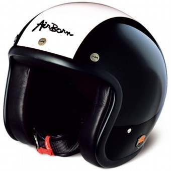 Casque Open Face Airborn Steve AB 2 Black Cream