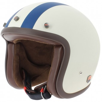 Casque Open Face Airborn Steve AB 20 Matt Cream Blue