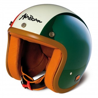 Casque Open Face Airborn Steve AB 27 Italian Flag