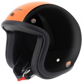 Casque Open Face Airborn Steve AB 28 Black Orange