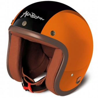 Casque Open Face Airborn Steve AB 3 Orange Black