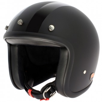 Casque Open Face Airborn Steve AB 43 Dual Matt Black