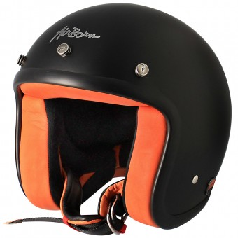 Casque Open Face Airborn Steve AB 8 Matt Black Orange