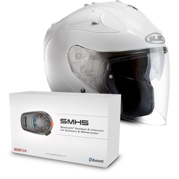 helmet hjc fg jet white sena smh5 bluetooth kit at the best price. Black Bedroom Furniture Sets. Home Design Ideas
