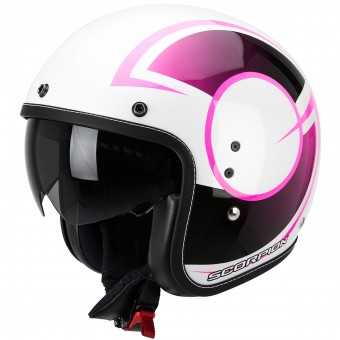 Casque Open Face Scorpion Belfast Citurban Pearl White Pink