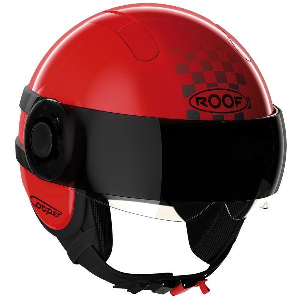 Helmet Roof Cooper Sunset Matt Red Black In Stock