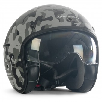 Casque Open Face HARISSON Corsair Camo Matt Grey