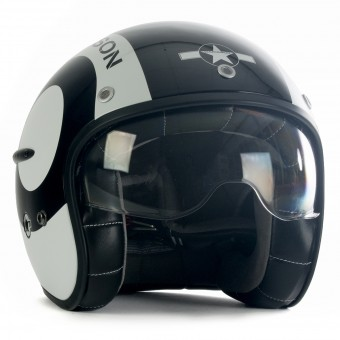 Casque Open Face HARISSON Corsair Snooker Black White