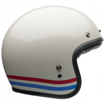 Casque Open Face Bell Custom 500 Stripes Pearl White