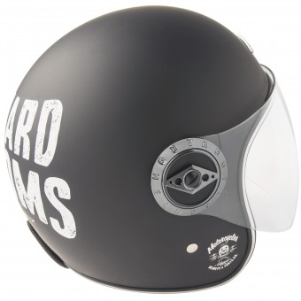 Casque Open Face Edguard Dirt Ed Visor Customs Black