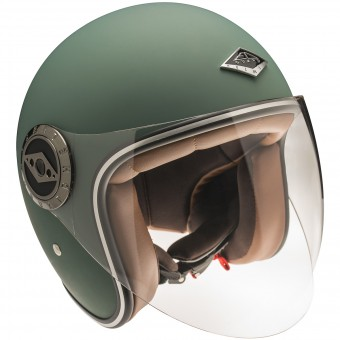 Casque Open Face Edguard Dirt Ed Visor Original English Green
