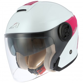 Casque Open Face Astone DJ10 White Pink