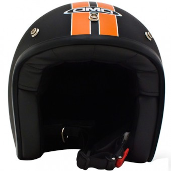 Casque Open Face Dmd Vintage HD Matt Blacke Orange