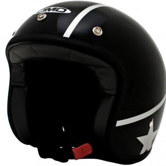 Casque Open Face Dmd Vintage Stunt Black Etoile