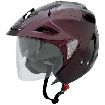 Casque Open Face AFX FX-50 Wine Red