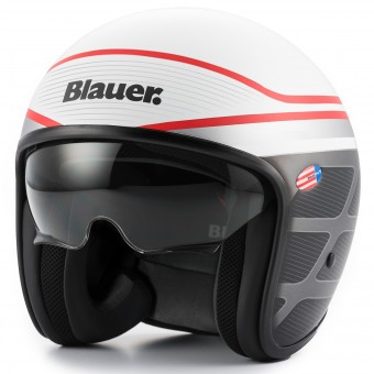 Casque Open Face Blauer Pilot 1.1 Graphic B White Red