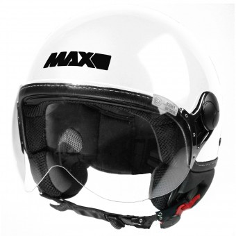 Casque Open Face MAX Power Design White Black