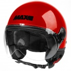 Casque Open Face MAX Power Design Red