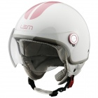 Casque Open Face LEM Roger Go Fast White Pink
