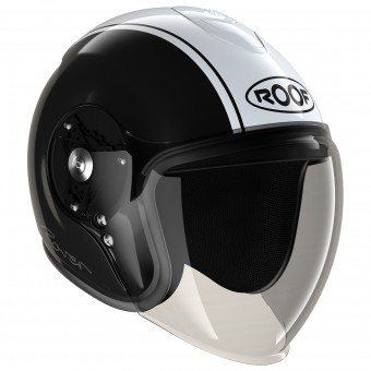 Casque Open Face Roof Rover Classic Black White