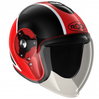 Casque Open Face Roof Rover Sport Black red