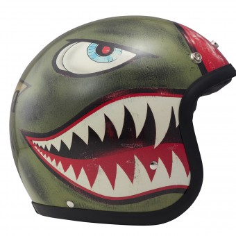 Casque Open Face Dmd Shark Green
