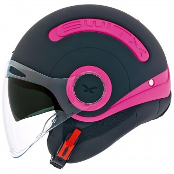 Casque Open Face Nexx SX.10 Switz Matt Black Magenta