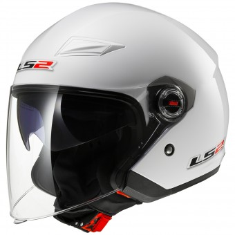 Casque Open Face LS2 Track White OF569